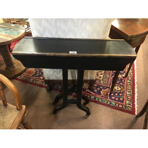 739 - Victorian ebonised consul table....