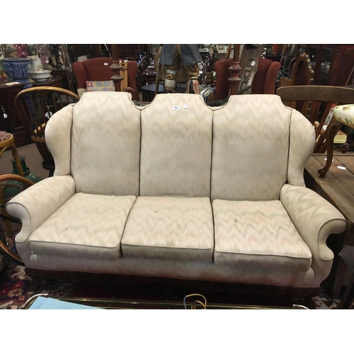 754 - Three piece upholstered suite....