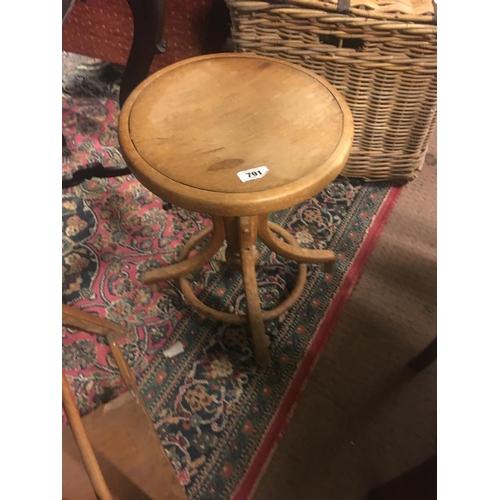 791 - 1930's mahogany adjustable stool....
