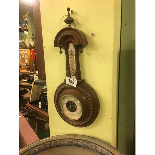 796 - Victorian wall banjo barometer....