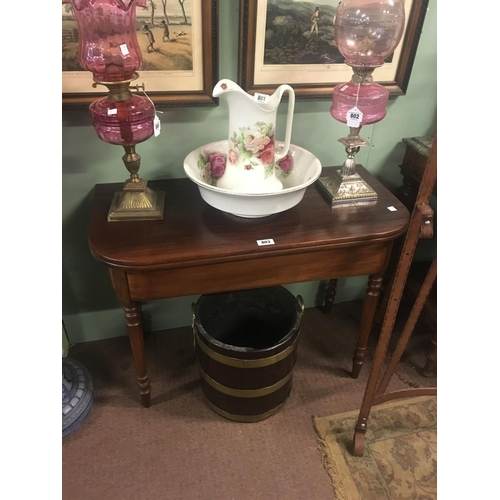 803 - Victorian mahogany TOL tea table....