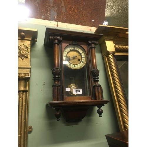 816 - Victorian mahogany wall clock stamped G HICKS of Northampton....