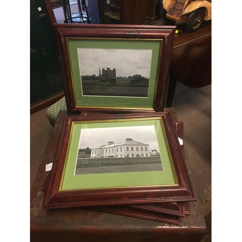 832 - Set of six framed black and white prints of locations in County Meath....