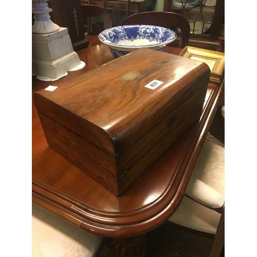 837 - Edwardian rosewood writing box....