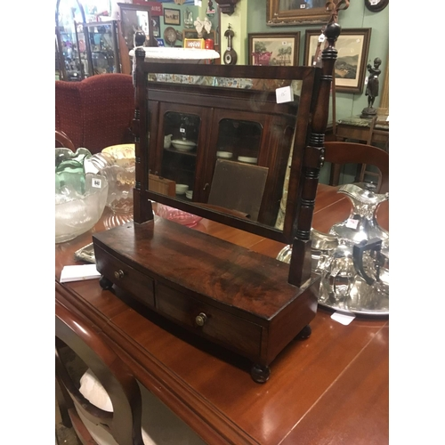 838 - Georgian mahogany dressing table mirror....