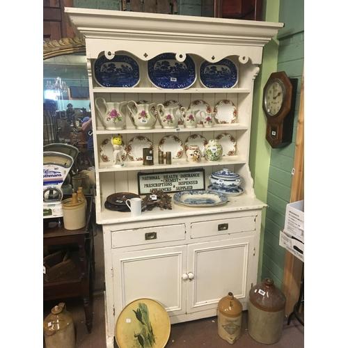 853 - C19th. pine Galway dresser....