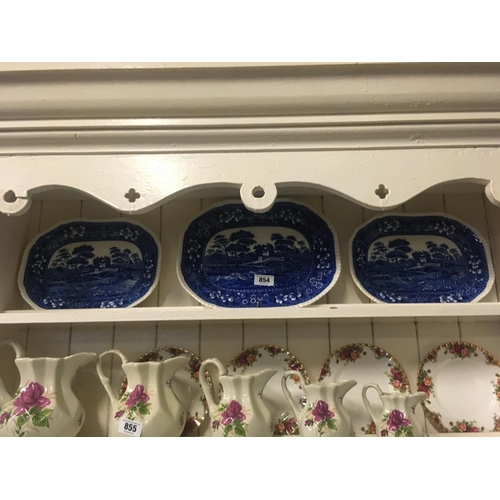 854 - Set of three blue and white SPODE joint dishes....