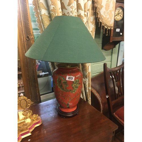 872 - Decorative  ceramic lamp....