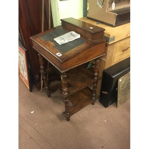 889 - Victorian mahogany davenport....