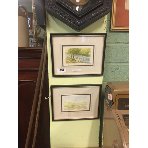 892 - Two framed watercolours of Donegal scenes...