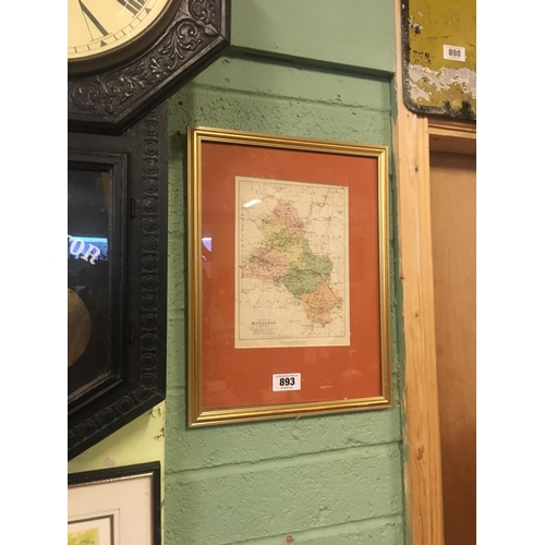 893 - Framed map of Co. Monaghan. George Phillip and Sons London and Liverpool....