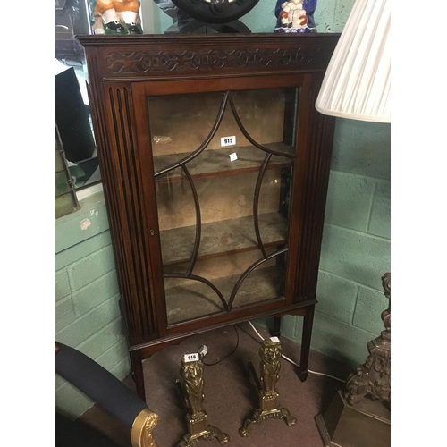 915 - Edwardian mahogany display cabinet in the Chippendale manner....