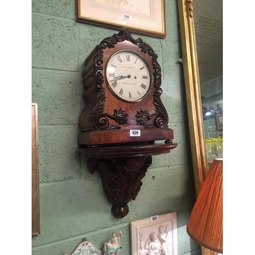 929 - William IV mahogany double fusee bracket clock.  SELLMAN St Leonard on Sea....