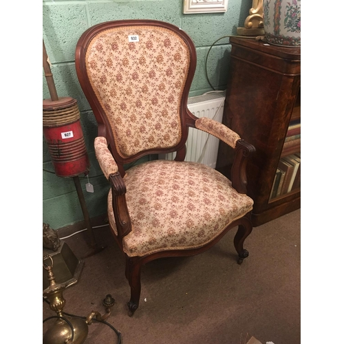 932 - Nice pair of Victorian open armchairs....