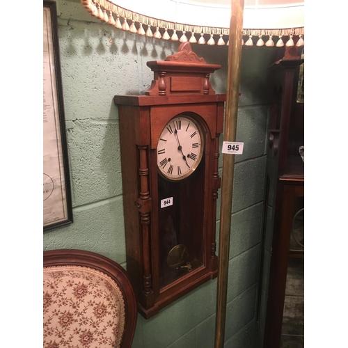 944 - Victorian mahogany wall clock....