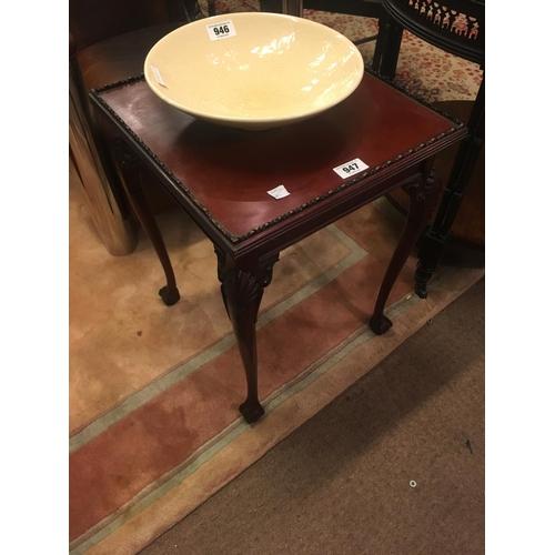 947 - Mahogany lamp table....
