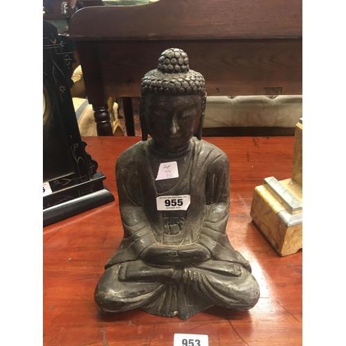 955 - Carved stone BUDDHA figure....