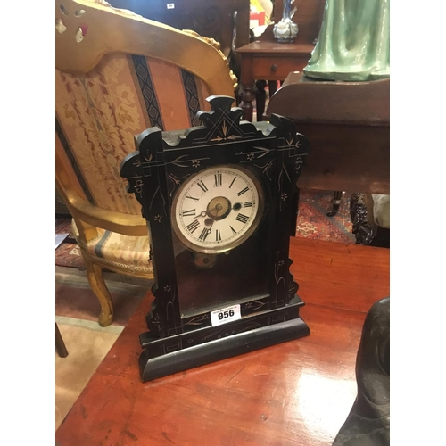 956 - Victorian ebonised mantle clock....