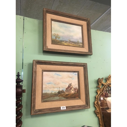 978 - Pair of framed oil on canvas signed Vincent Hyland....