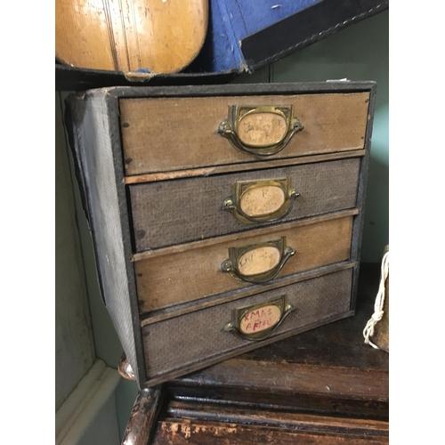 112 - Victorian desk filing cabinet....