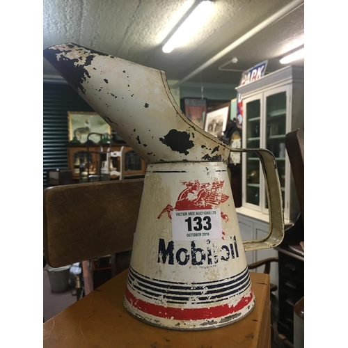 133 - MOBILOIL quart measure....