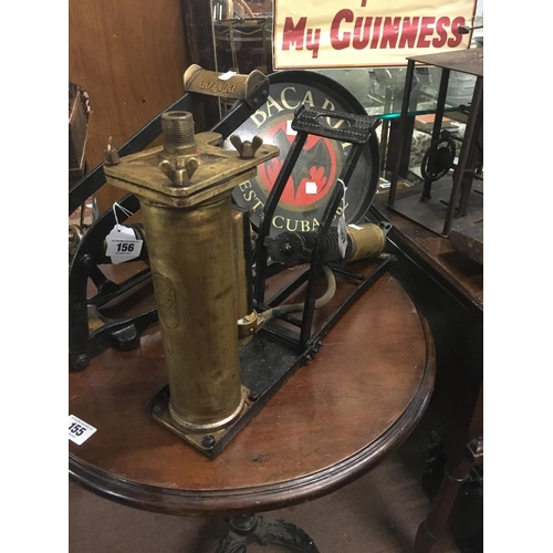 157 - 1940's brass and metal SGI lorry pump...