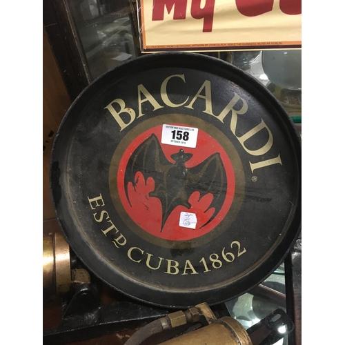 158 - BACARDI pub tray....