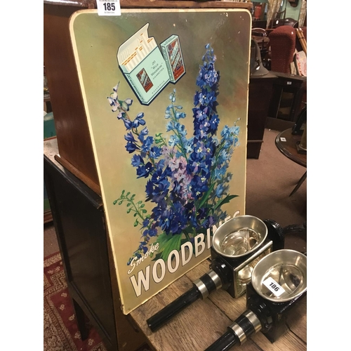 185 - Original WOODBINE cardboard sign....