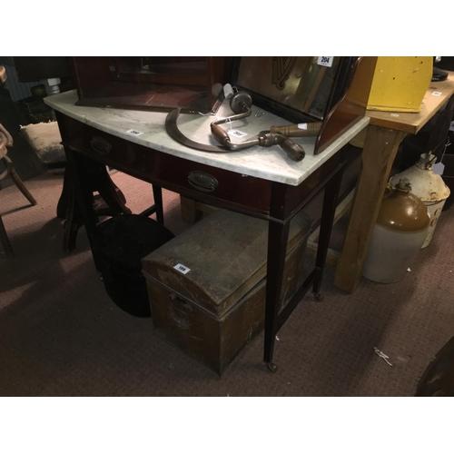 200 - Ewardian mahogany marble topped wash stand....