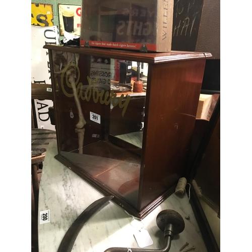 201 - Victorian mahogany CADBURY'S display cabinet....