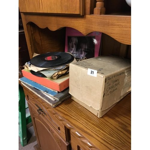 21 - Collection of 78's and box of religious singles....
