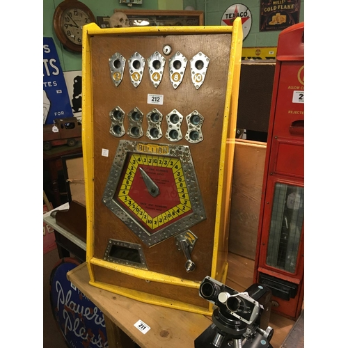 212 - 1960's BRYANS BULLION slot machine....