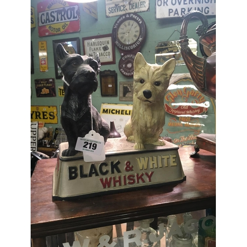 219 - 1950's BLACK AND WHITE whiskey advertising dogs...
