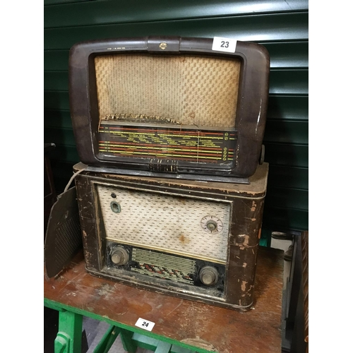 23 - Two old radios....