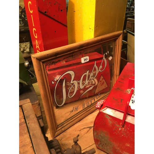 243 - Original BASS advertising mirror....