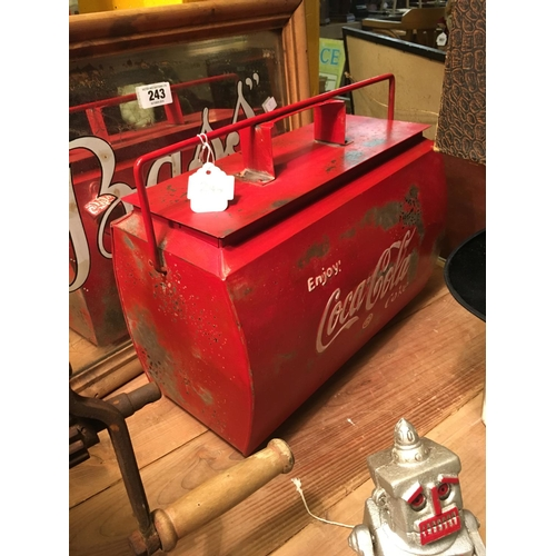 244 - COCA COLA cooler box....