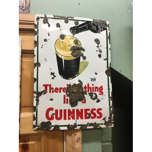 259 - Original THERE'S NOTHING LIKE  A GUINNESS enamel sign....