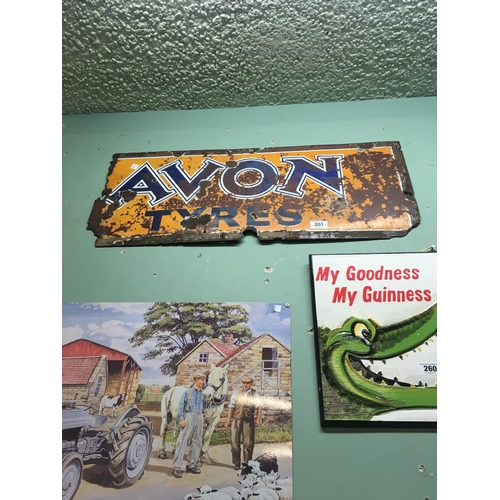 261 - Original AVON TYRES enamel sign....