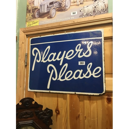 263 - PLAYERS PLEASE advertisment sign...