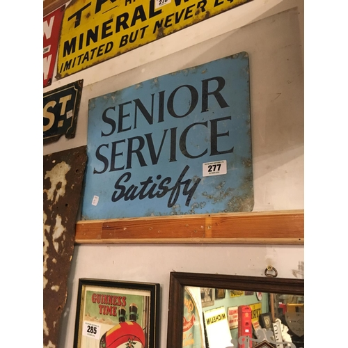 277 - Aluminium SENIOR SERVICE sign....