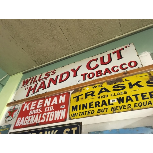 279 - Original enamel WILLS HANDY CUT TOBACCO sign....