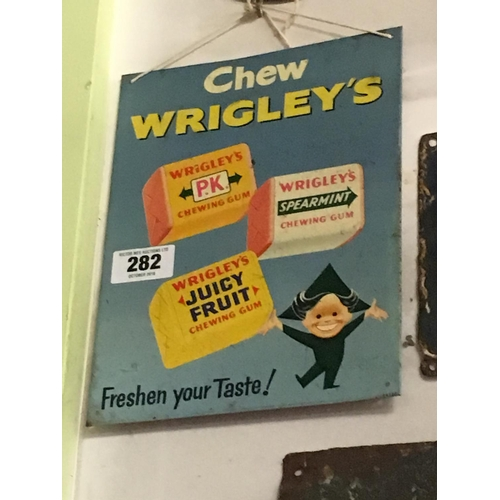282 - 1960's CHEW WRIGLEYS advertisement....