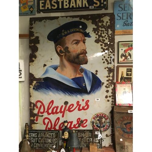 284 - Original PLAYERS' SAILOR  enamel sign....