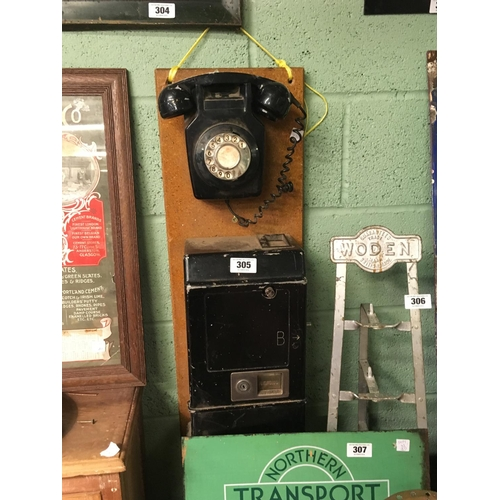 305 - 1970's 'B' wall phone....