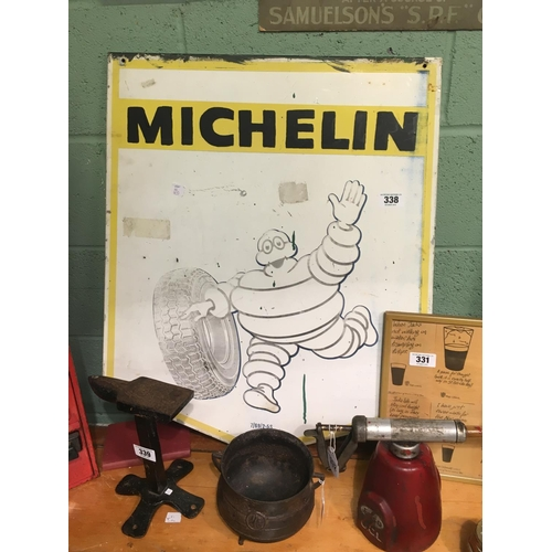 338 - 1960's alloy MICHELIN man advertisment....