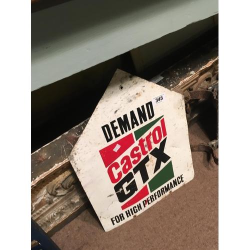 345 - 1970's CASTROL GTX sign....