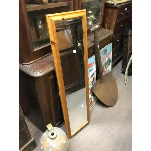 42 - Modern pine mirror....