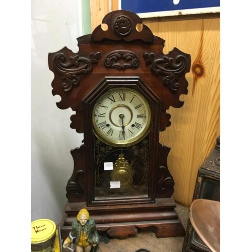 48 - C19th. Gingerbread clock....