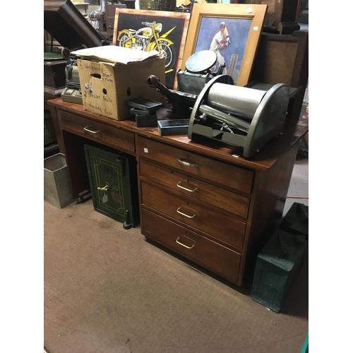 77 - 1960's mahogany kneehole desk....