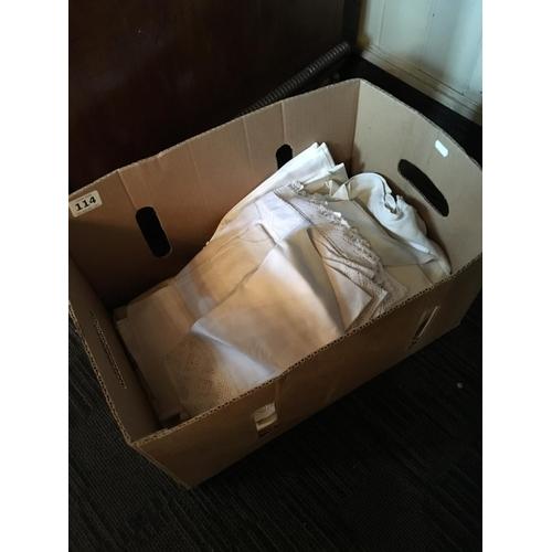 114 - Box of Linen....